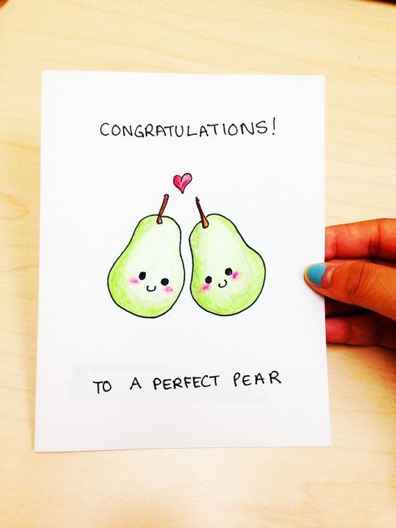 Drawn gift Card perfect Funny cute card