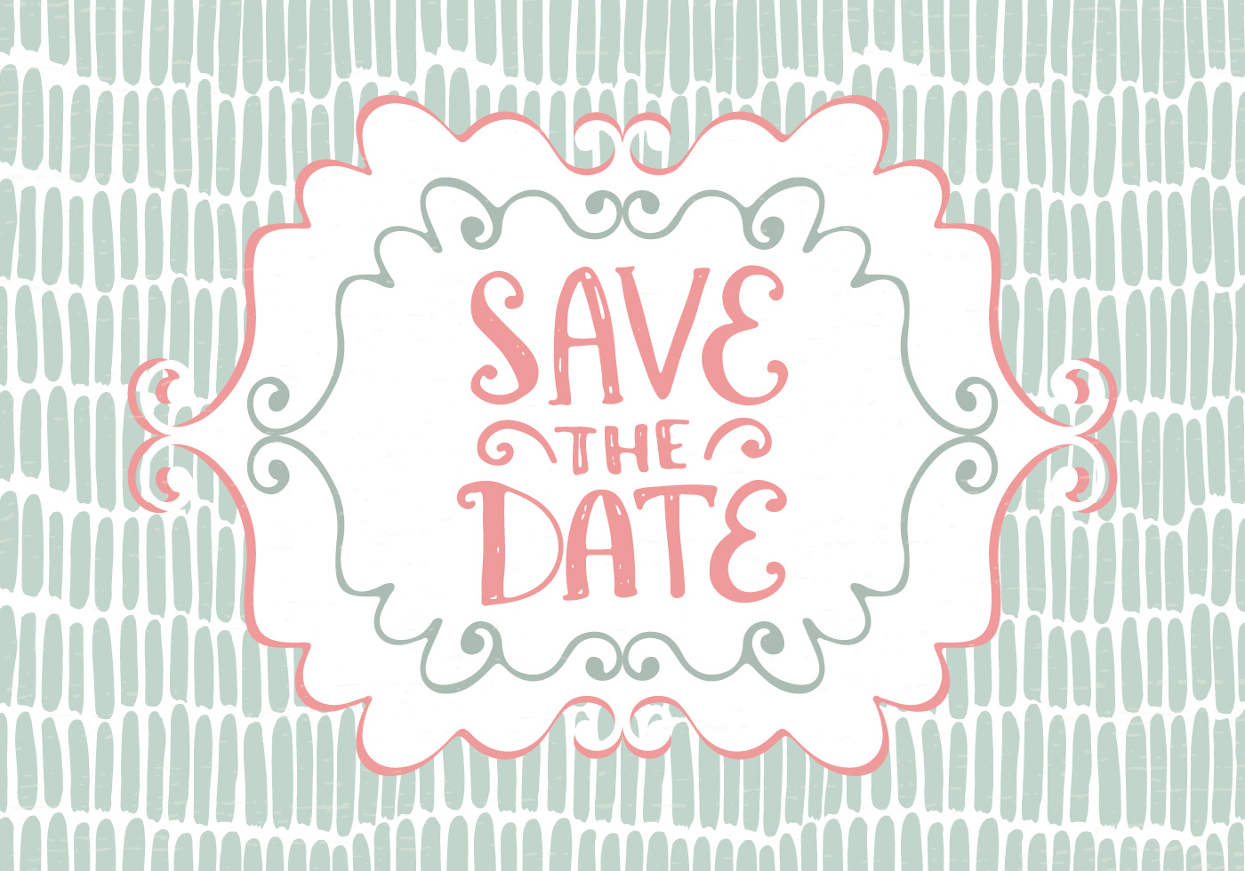 Drawn card graphic Save the — Date Graphic