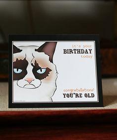 Drawn card grumpy cat #12