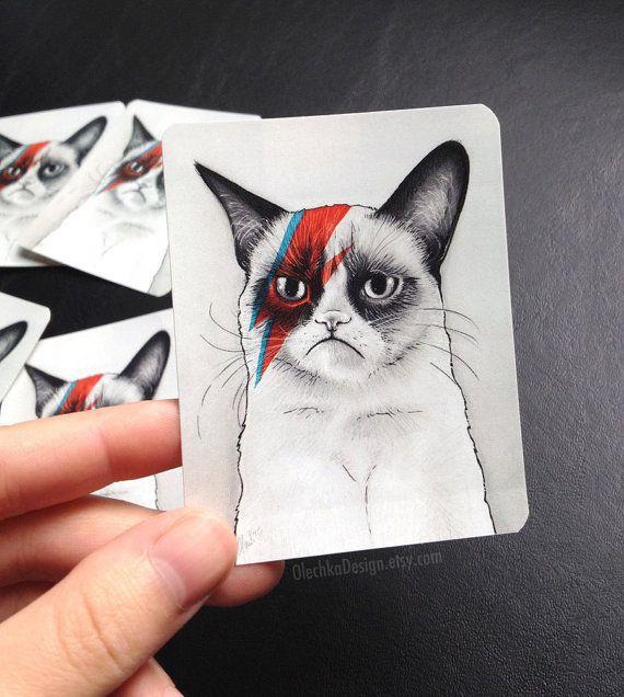 Drawn card grumpy cat #11