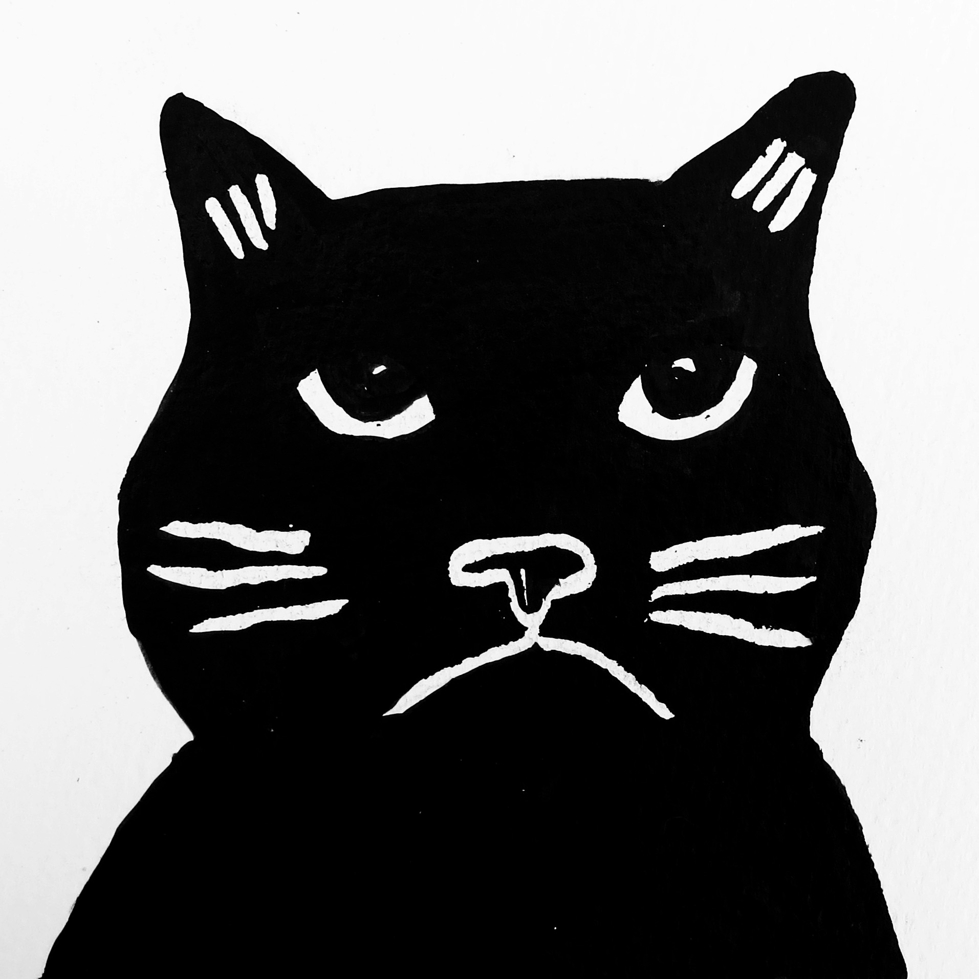 Drawn card grumpy cat #8