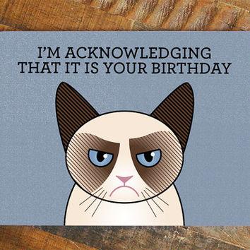 Drawn card grumpy cat #13
