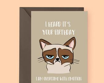 Drawn card grumpy cat #10