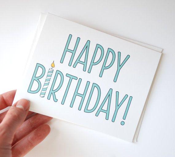 Drawn cards happy birthday Simple Happy Pinterest on birthday