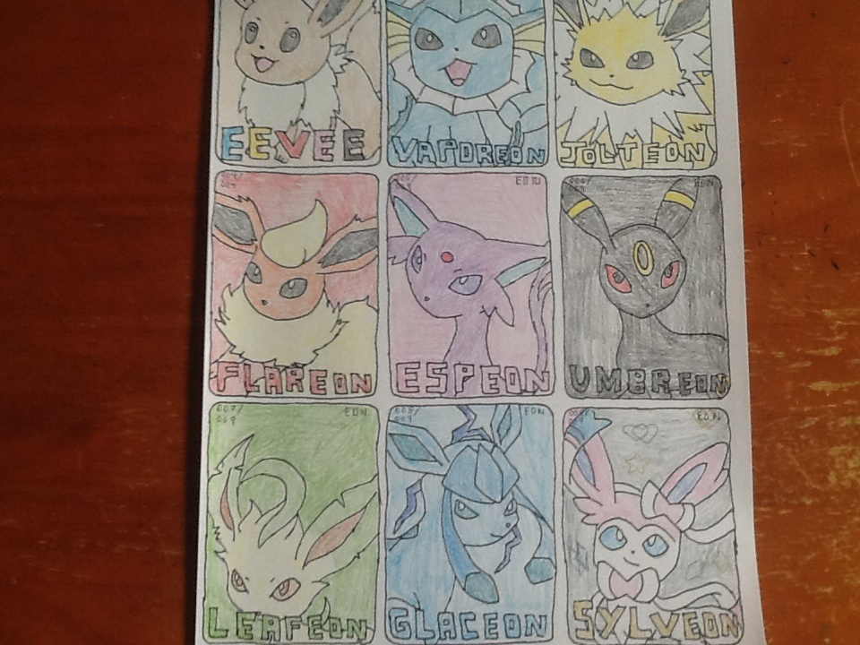Drawn cards pokemon #1