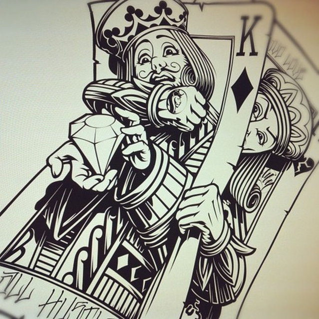 Drawn card poker #6