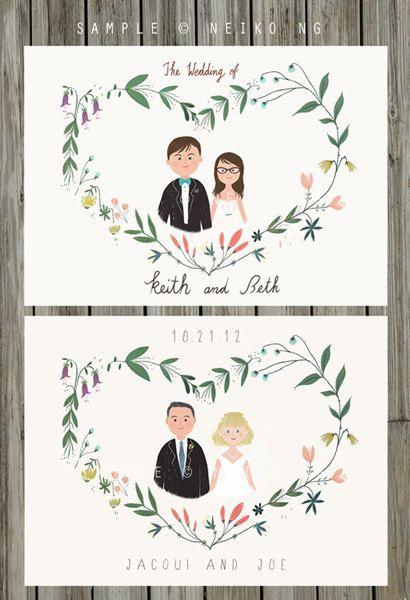 Drawn card wedding #6
