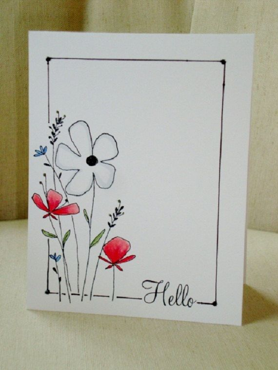 Drawn cards floral wedding Ideas the cool Best Hand