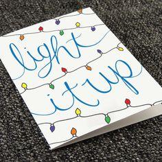 Drawn cards christmas light #12
