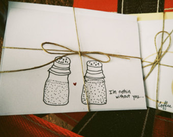 Drawn cards hand painted Of you love Greeting Cards