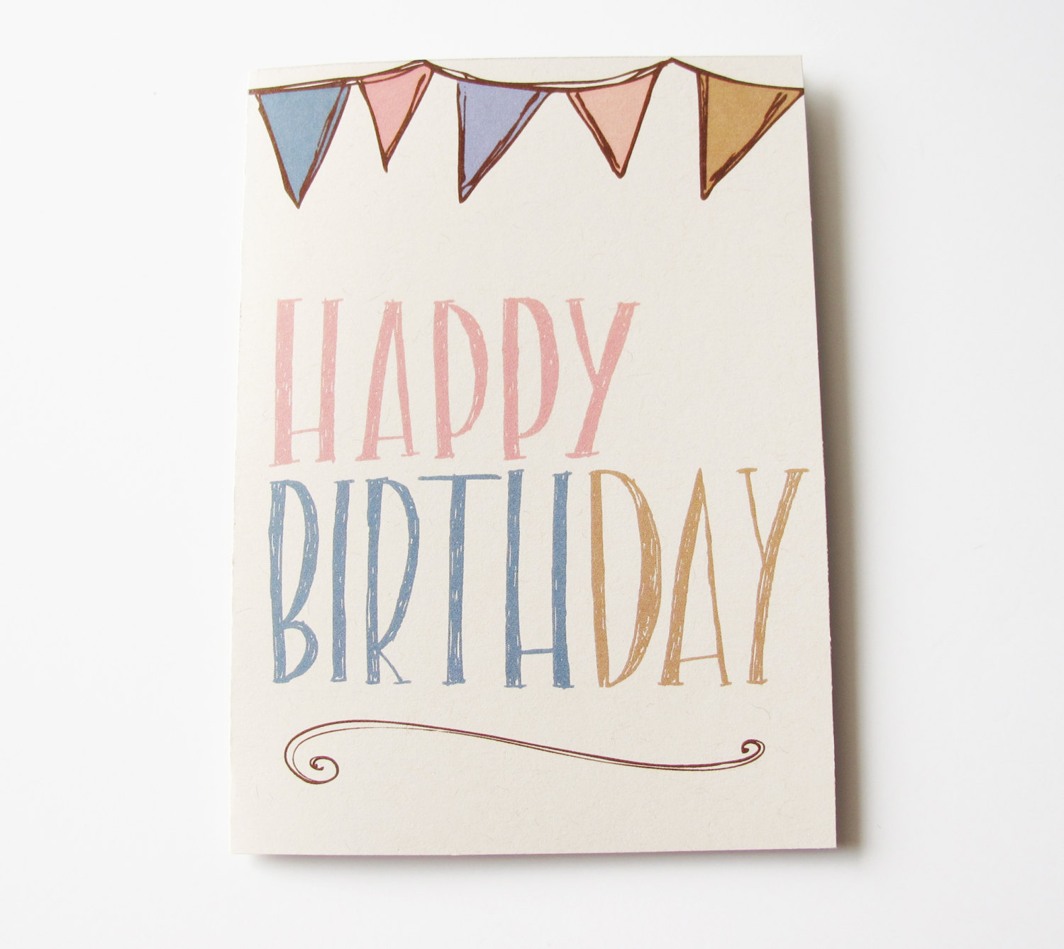 Drawn cards happy birthday Card and — lettering drawn