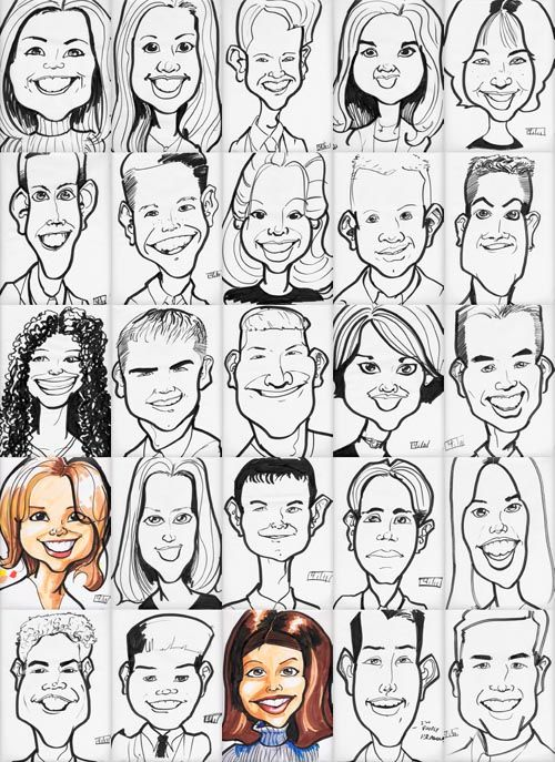 Drawn caricature Learn on Caricature draw caricatures