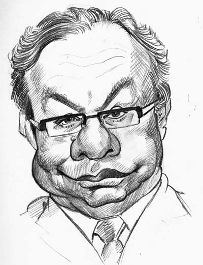 "Drawn caricature On Caricatures"" book website series"