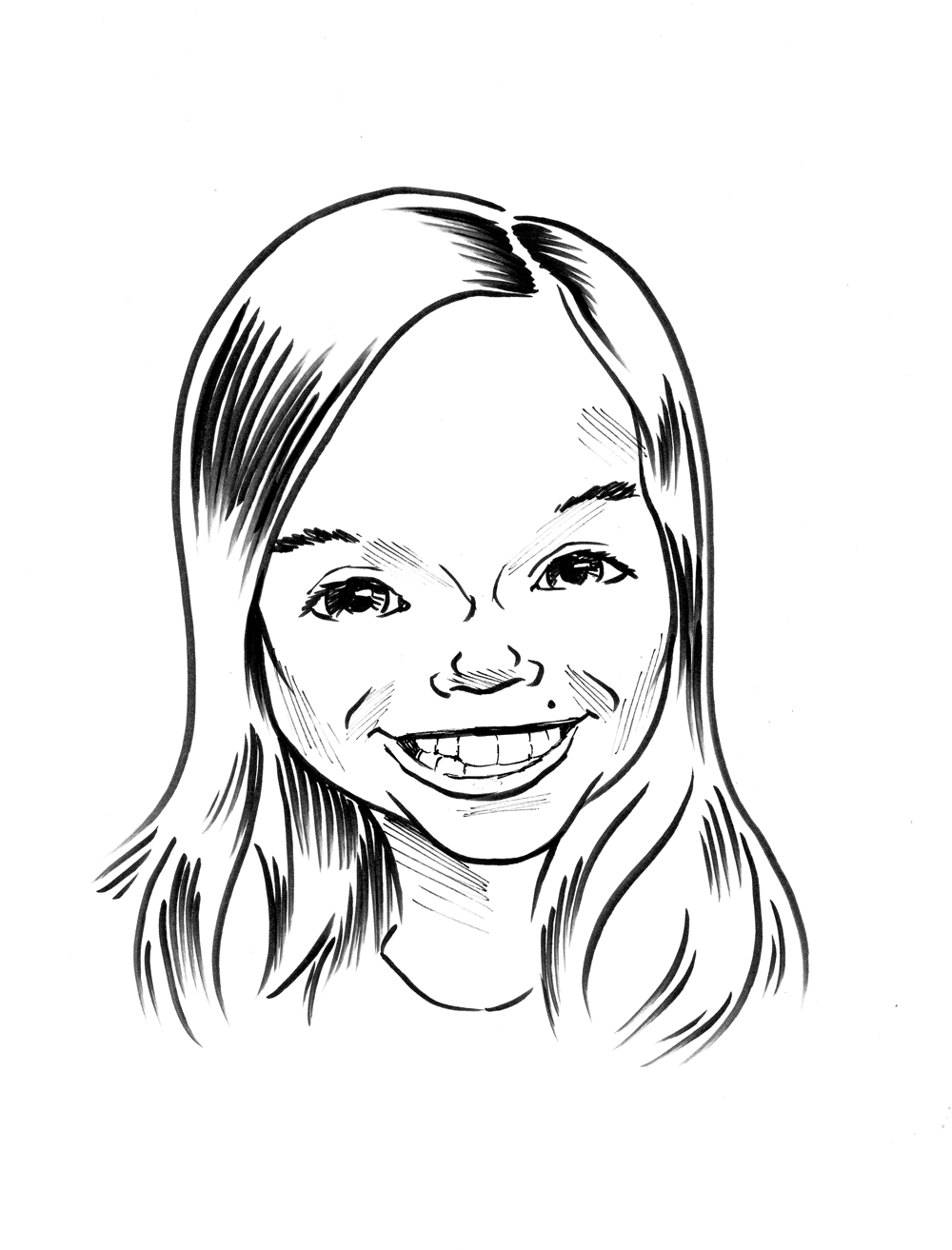 Drawn caricature Black  Subscription Caricature —