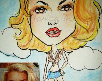 Drawn caricature Of Custom Dollsion favorite celebrity