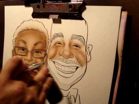 Drawn caricature airbrush Airbrush caricatures airbrush caricatures YouTube