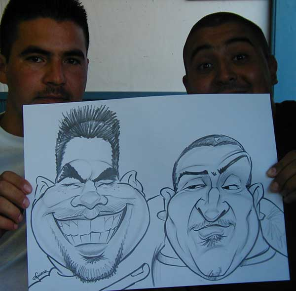 Drawn caricature airbrush  Caricatures