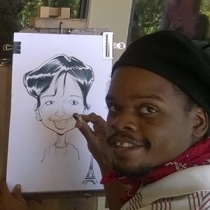 Drawn caricature airbrush GigSalad FL Caricaturists in Jer'Animé