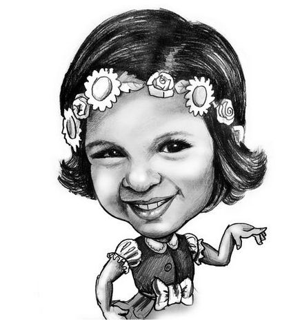 Drawn caricature black and white #13
