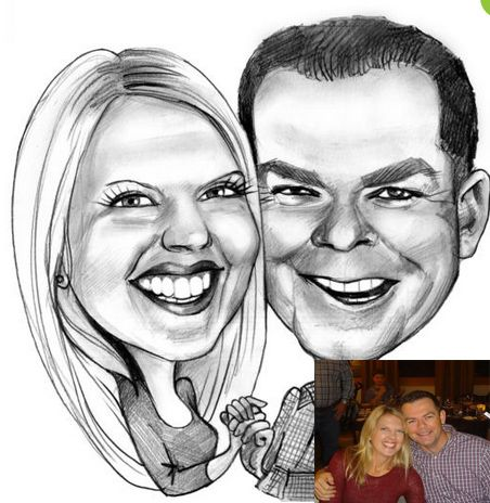 Drawn caricature black and white #3