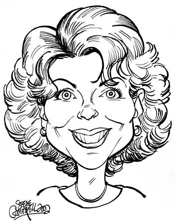 Drawn caricature black and white #14