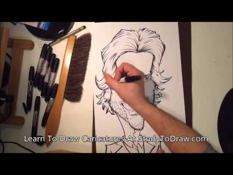 Drawn caricature characterture #13