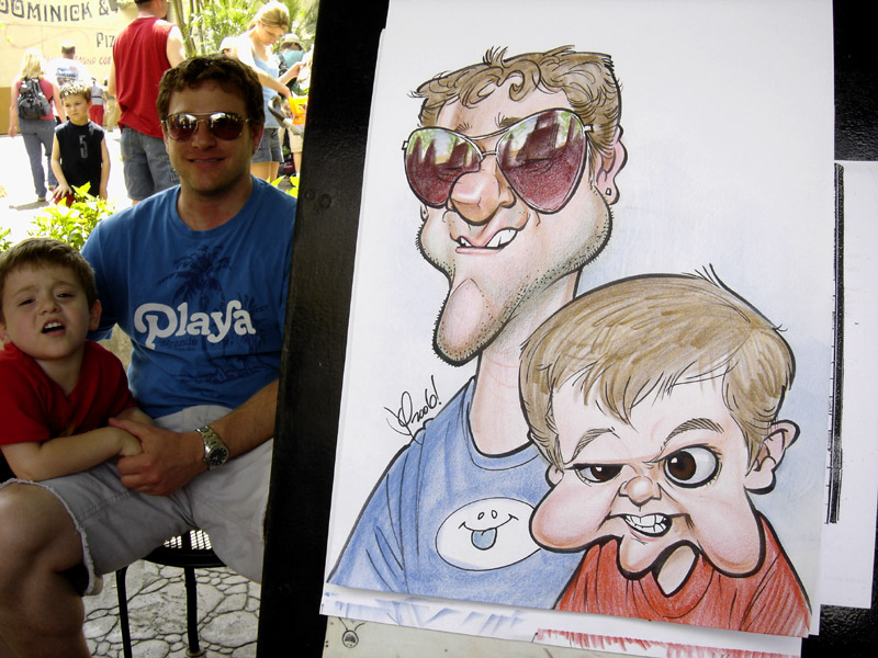 Drawn caricature exaggeration #11