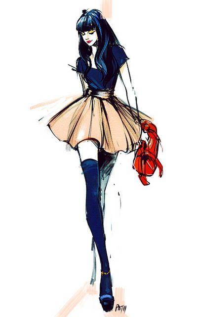 Drawn caricature fashion Best FashionDrawing Cartoon Sketch SketchbookFashion