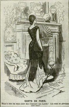 Drawn caricature fashion Corset! Sambourne Satire Edward by