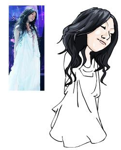 Drawn caricature fashion Draw Drawing Hair shot Caricature