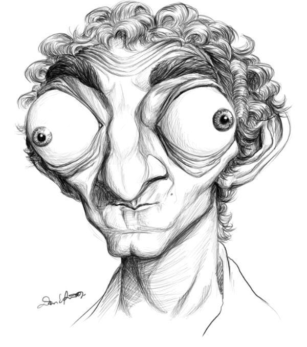 Drawn caricature pencil #4