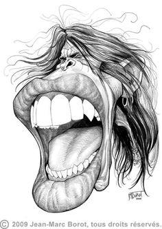 Drawn caricature pencil #12