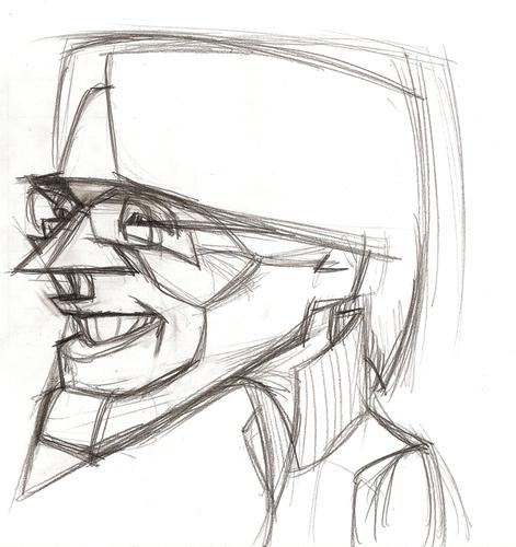 Drawn caricature pencil #7