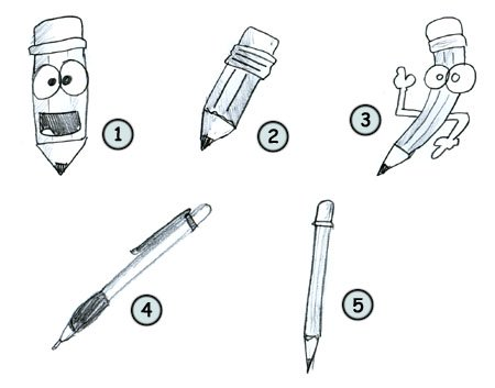 Drawn caricature pencil #15