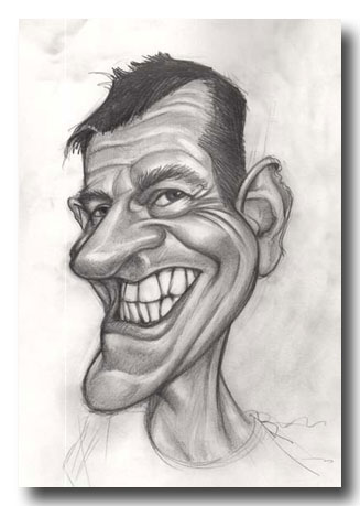 Drawn caricature pencil #10