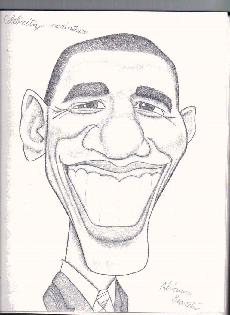 Drawn caricature pencil #2