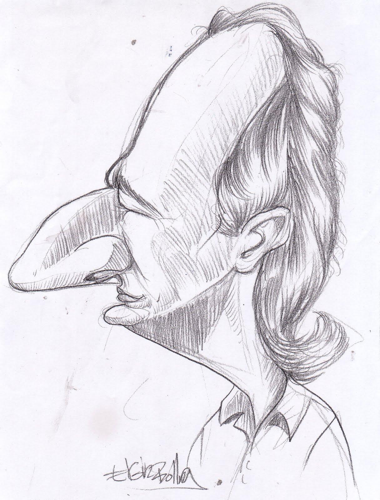 Drawn caricature pencil #3