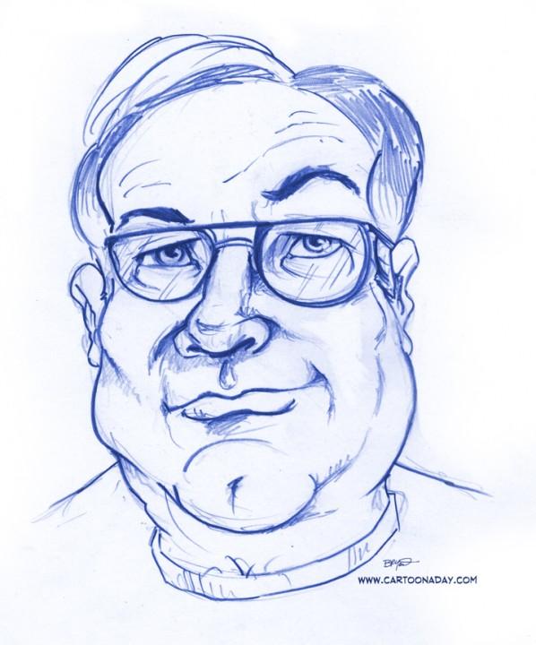 Drawn caricature pencil #13