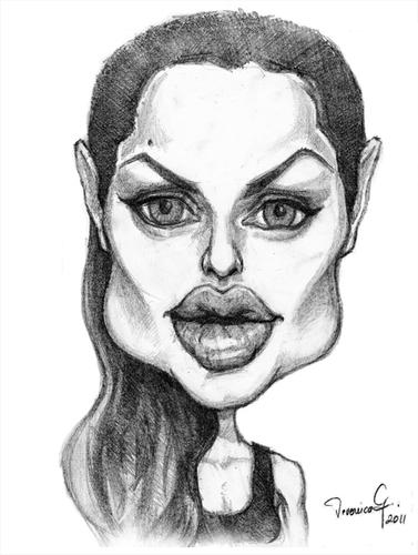 Drawn caricature pencil #9