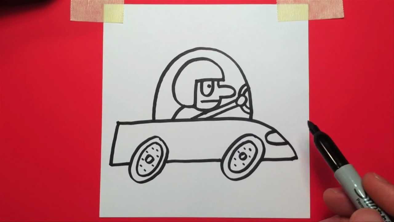 Drawn race car drag car Car YouTube How race a
