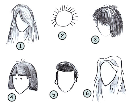 Drawn hair simple Pin Caricature  (Portrait Your