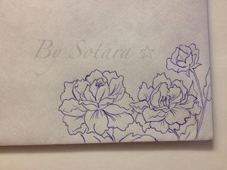 Drawn carnation Of # of Ink envelope