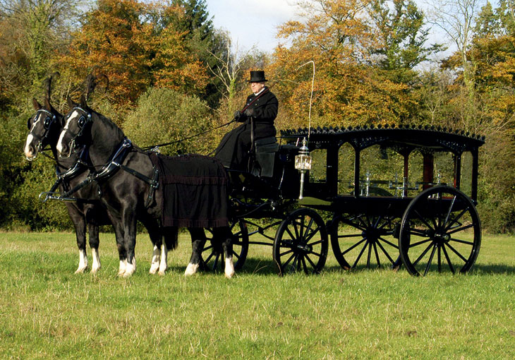Drawn graveyard silhouette Carriages Horsedrawn  serving West
