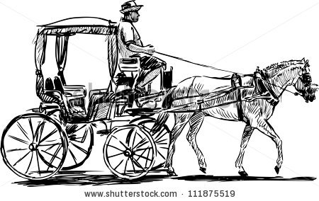 Cart clipart horse vehicle Of Clipart Horse carriage drawn
