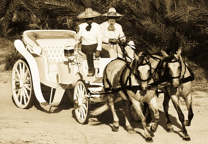 Drawn carriage A and Lucas A Cabo