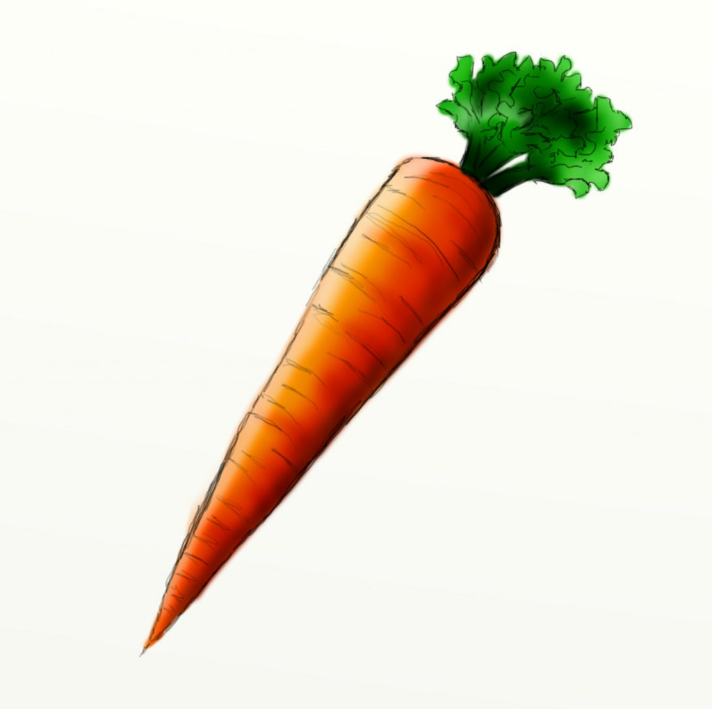 Drawn carrot To draw carrot  How