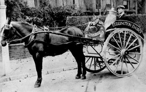 Drawn cart From Teddington beginnings from Dairy