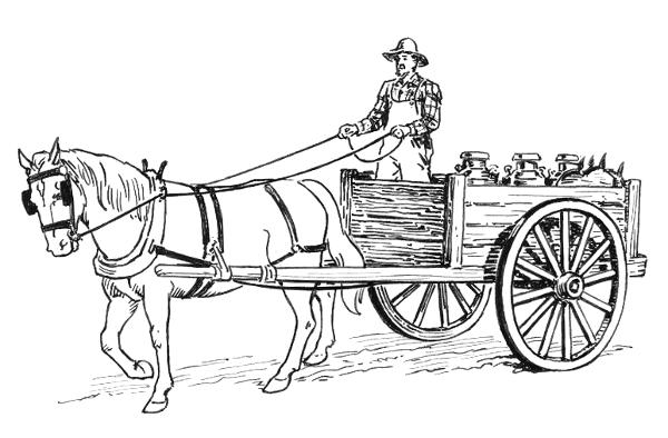 Drawn cart  horse drawn png html