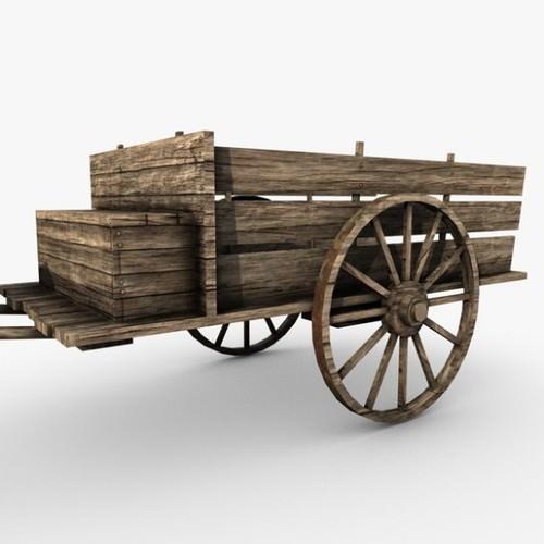 Drawn cart Cart C4D 3D 3DS c4d