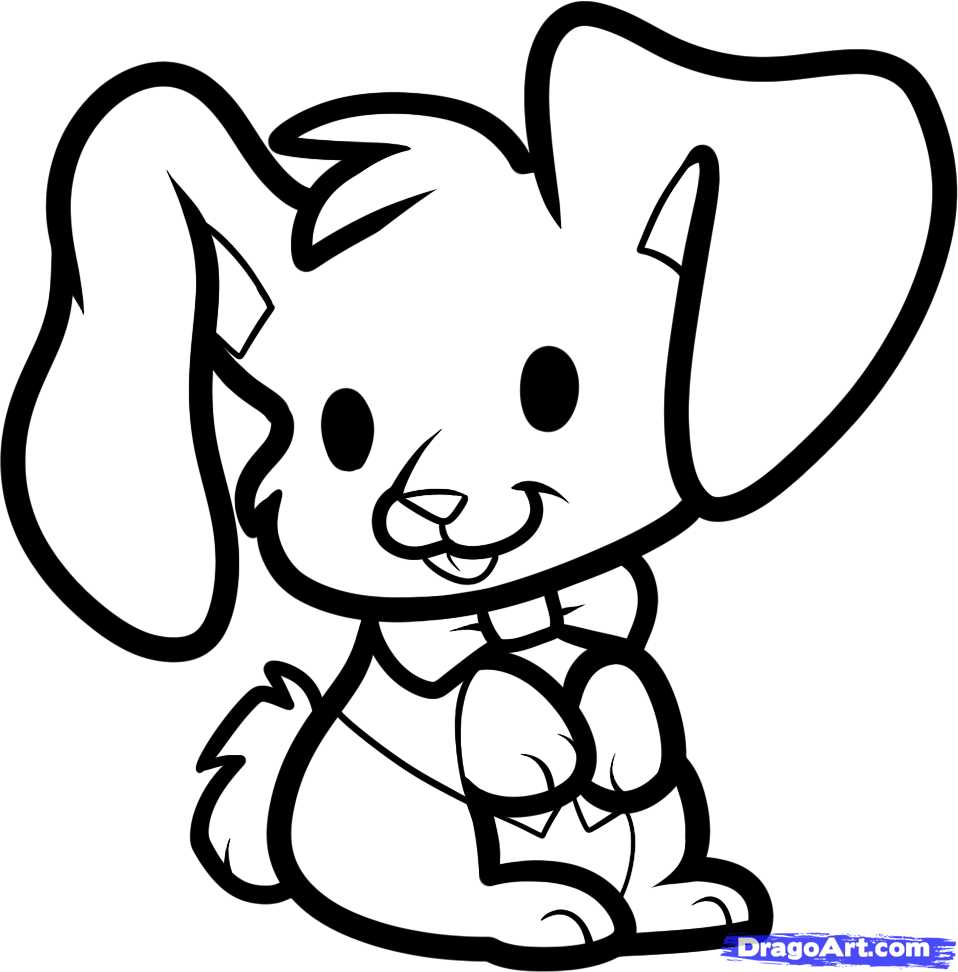 Drawn rabbit easter bunny Easter 3:55:15 Learn Step Bunny